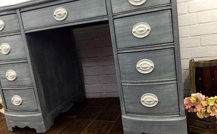 hepplewhite desk shabby chic makeover, painted furniture, shabby chic