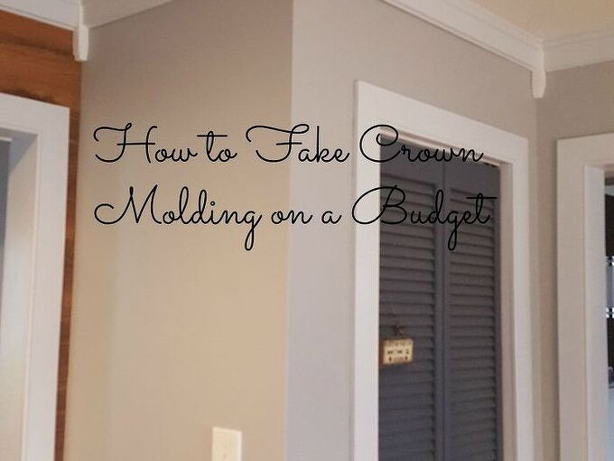 how to fake crown molding on a budget, dining room ideas, how to, wall decor, woodworking projects