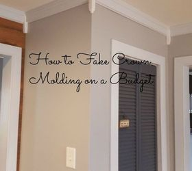 How To Fake Crown Molding On A Budget, Dining Room Ideas, How To,