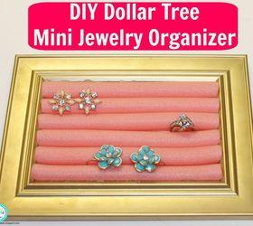 DIY Dollar Tree Mini Jewelry Organizer Hometalk
