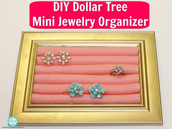 diy dollar tree mini jewelry organizer, crafts, how to, organizing, repurposing upcycling, storage ideas