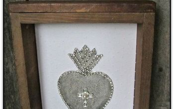 diy ex voto sacred heart, crafts, repurposing upcycling, seasonal holiday decor, valentines day ideas