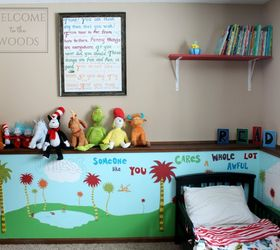 Dr. Seuss Childrenu0027s Bedroom #kidspace | Hometalk | Dr Seuss Home Decor