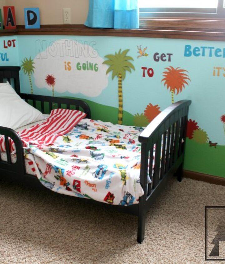 dr seuss children s bedroom kidspace, bedroom ideas, diy, home decor, painted furniture, painting
