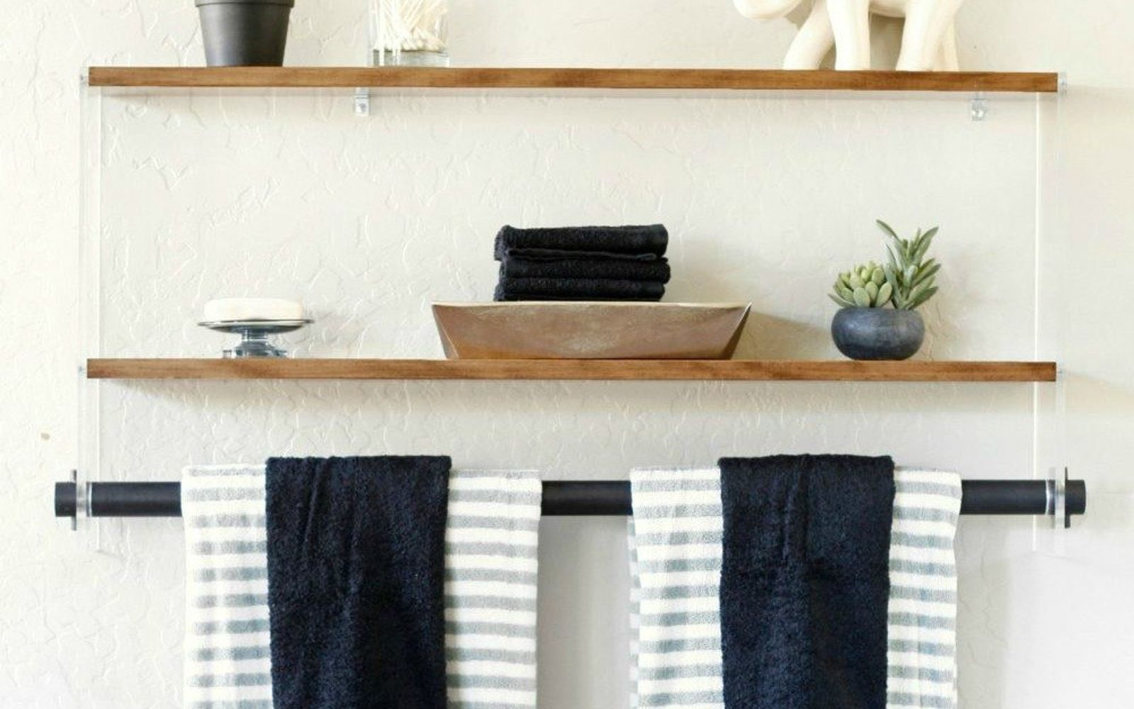 s 9 incredible organizing ideas we wish we d seen sooner, organizing, repurposing upcycling, This chic wood acrylic wall shelf