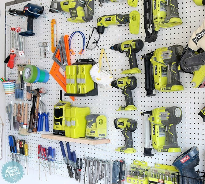 s 9 incredible organizing ideas we wish we d seen sooner, organizing, repurposing upcycling, A perfectly organized pegboard wall