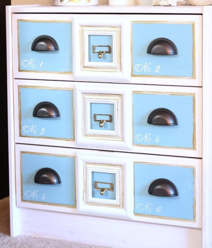 s we couldn t believe these started as ikea rasts, painted furniture, repurposing upcycling, Their Photo Frame Apothecary Cabinet