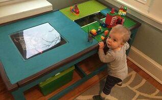 diy lego table, diy, entertainment rec rooms, repurposing upcycling