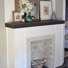 how to build a faux fireplace, diy, fireplaces mantels, how to, living room ideas, woodworking projects