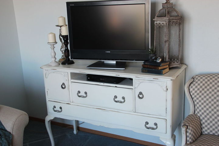 Chalk Painted Buffet Turned Into Tv Stand Paint Furniture