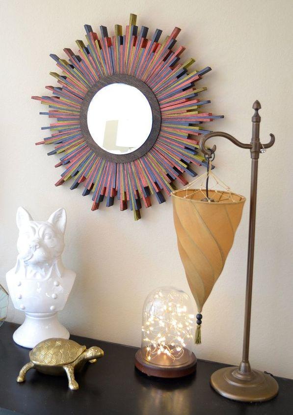 Wood Shim Starburst Wall Mirror | Hometalk