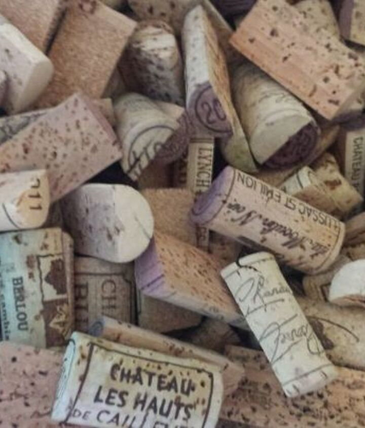 corks for an awkward formica windowsill space, repurposing upcycling, window treatments, windows