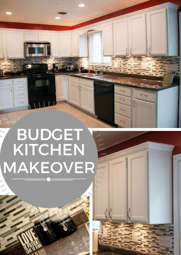 Budget kitchen makeovers on a countertop garage makeovers for Diy kitchen ideas on a budget