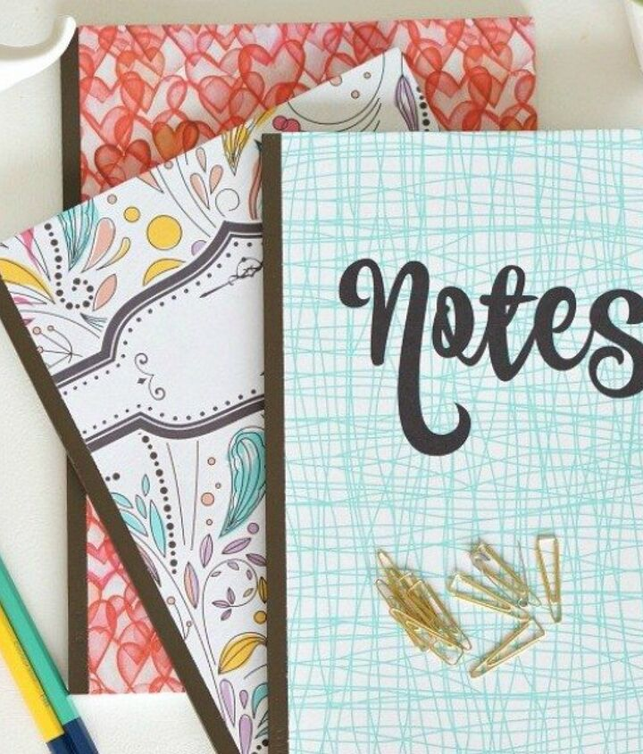 s 18 magical ways to update your plain jane stuff using graphics, home decor, repurposing upcycling, Personalize cheapo notebooks