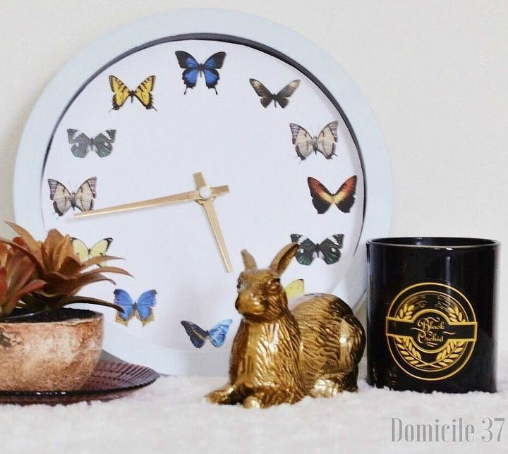 s 18 magical ways to update your plain jane stuff using graphics, home decor, repurposing upcycling, Make a boring clock look exceptional