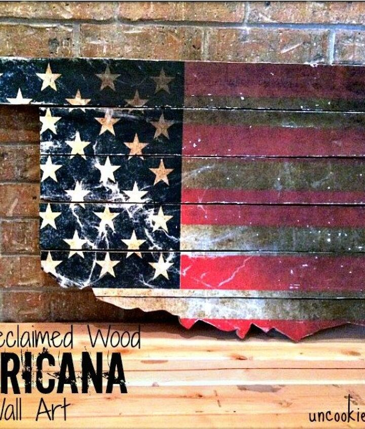 s 18 magical ways to update your plain jane stuff using graphics, home decor, repurposing upcycling, Turn plain wooden planks into patriotic art