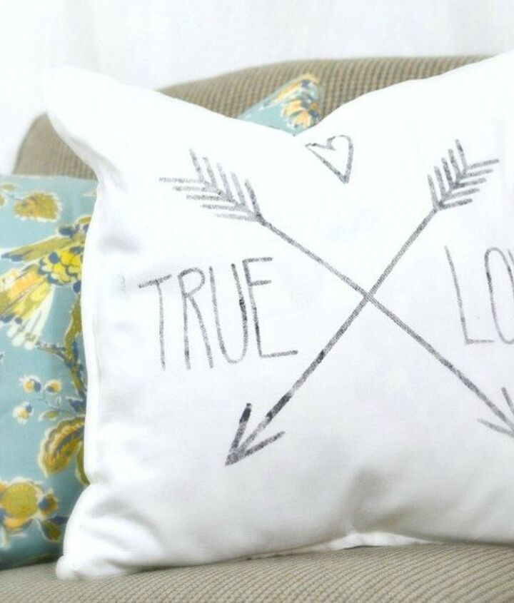 s 18 magical ways to update your plain jane stuff using graphics, home decor, repurposing upcycling, Make a plain throw pillow pop with cuteness