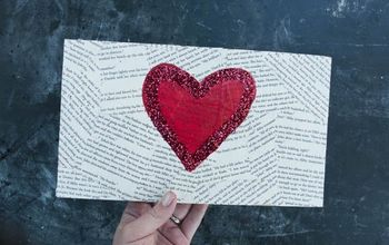 Easy Recycled Heart Canvas