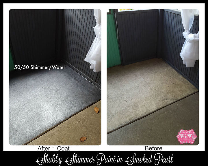 diy stained concrete using shabby paints, concrete masonry, diy, painting, porches