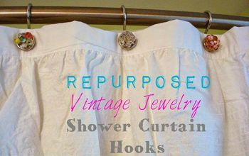Repurpose Vintage Jewelry...in the Shower! #BathroomBeautify