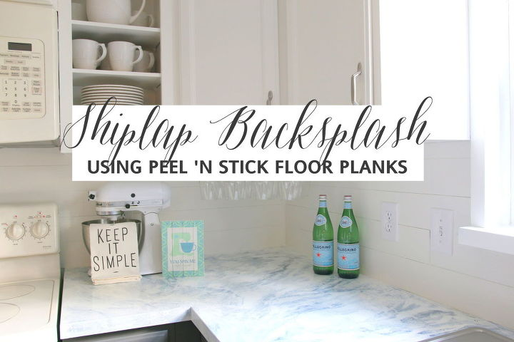 Get The Look Of Shiplap Using Peel And Stick Flooring