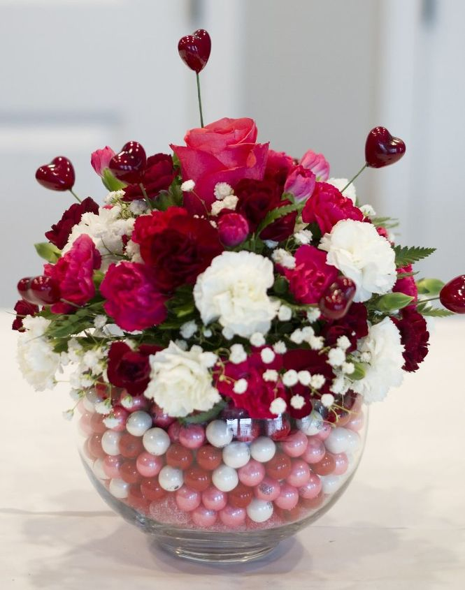 Valentine s day decorating ideas home centerpiece roses