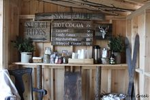 creating an adirondack style hot cocoa bar, diy, entertainment rec rooms, outdoor furniture, outdoor living, seasonal holiday decor, woodworking projects