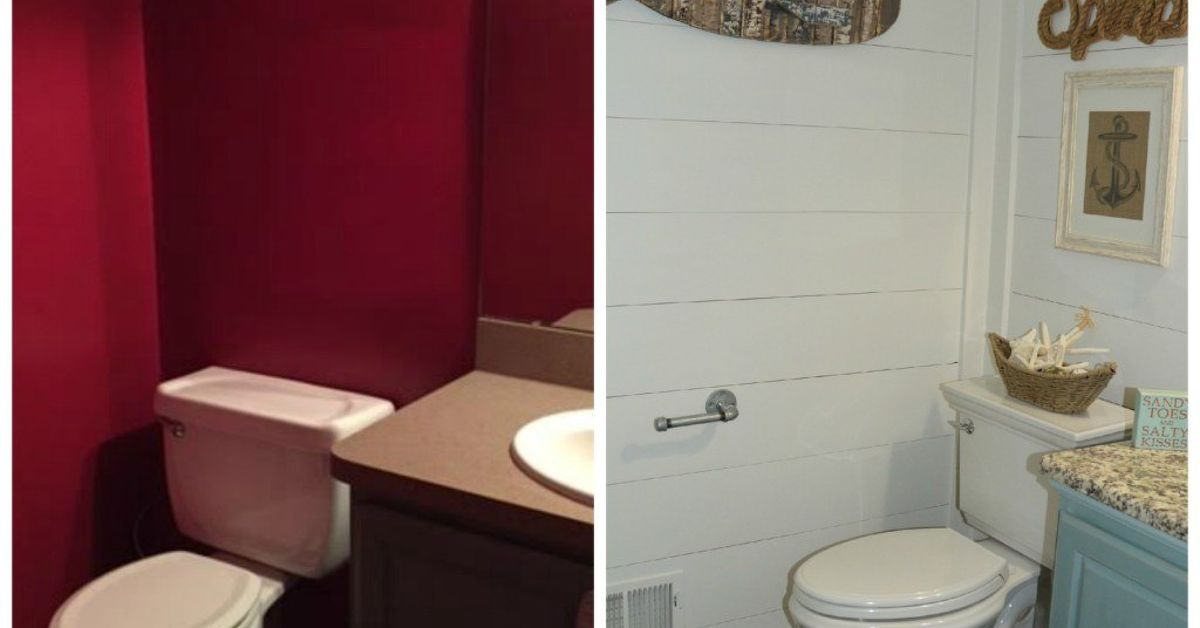 From Red and Dark to White and Bright - Bathroom Makeover | Hometalk