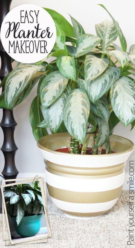 diy painted planter, container gardening, crafts, gardening