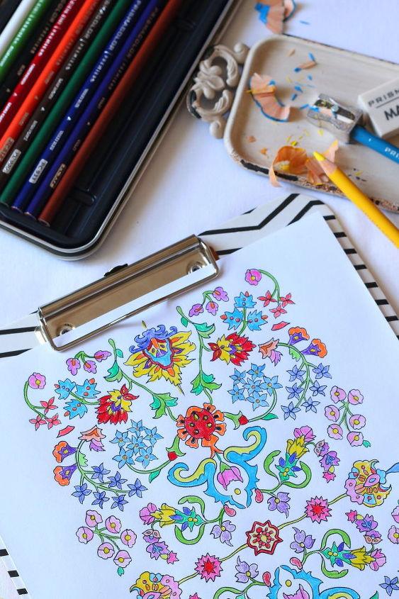 diy coloring page tote bag, crafts
