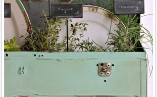 an herb toolbox, container gardening, crafts, gardening