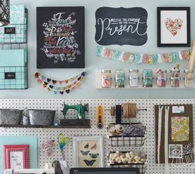 A Pegboard Gallery Wall For My Office Craft Room, Craft Rooms, Crafts,  Organizing