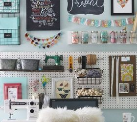 Lovely A Pegboard Gallery Wall For My Office Craft Room, Craft Rooms, Crafts,  Organizing