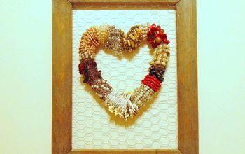Funky Necklace Heart Wreath