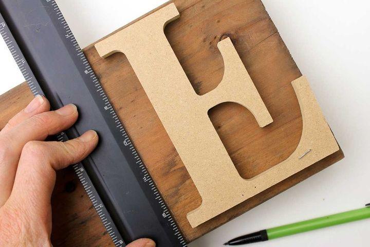 Faux Letterpress Printing Block DIY Art | Hometalk
