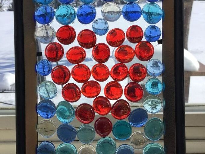 inexpensive glass gem sun catcher, crafts, home decor, repurposing upcycling