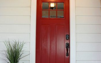 New Red Front Door at the Flip House