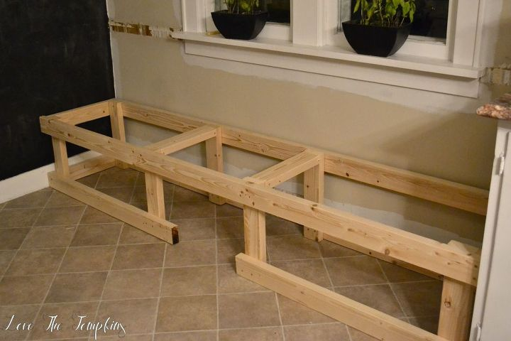 how i built a built in bench, dining room ideas, painted furniture, woodworking projects