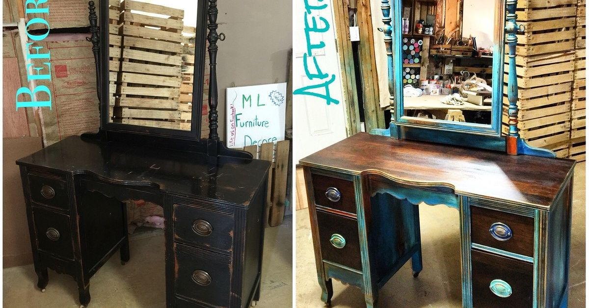 - Antique Vanity Refinishing..A $35 Garage Sale Find! Hometalk