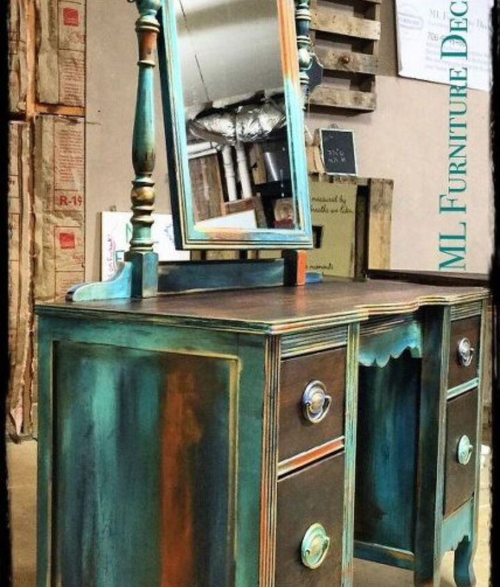 antique vanity refinishing a 35 garage sale find, chalk paint, painted furniture