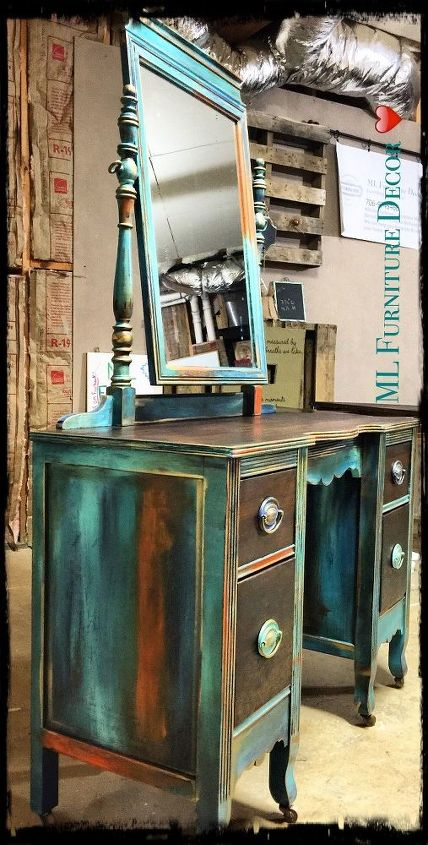 antique vanity refinishing a 35 garage sale find, chalk paint, painted  furniture - Antique Vanity Refinishing..A $35 Garage Sale Find! Hometalk