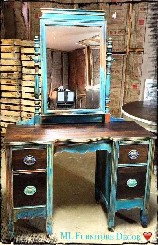 Antique Vanity Refinishing A 35 Garage Sale Find Hometalk