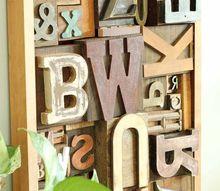 faux letterpress printing block diy art, crafts, wall decor