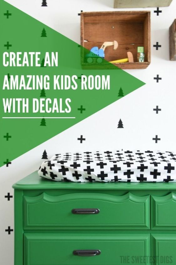diy nursery creating a black and white scandi style decal wal, bedroom ideas, diy, painting, wall decor