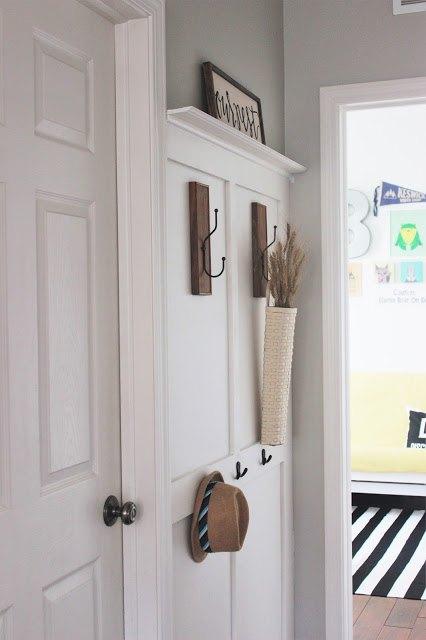 diy board and batten coat rack wall, foyer, organizing, wall decor