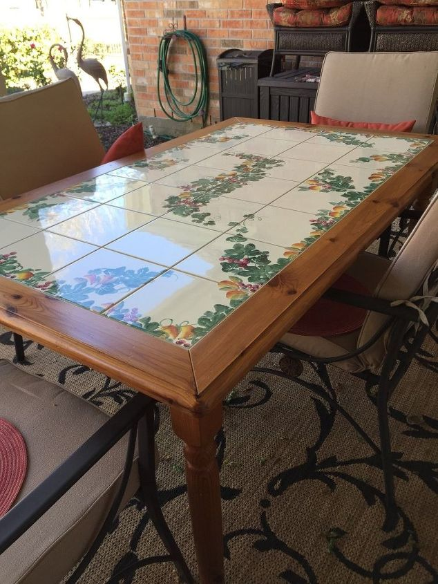 q i am putting a wood table on my covered patio, exterior home painting, outdoor furniture, painted furniture, painting over finishes