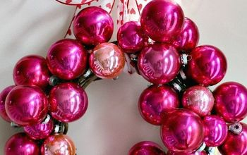 diy valentines day wreath using vintage shiny brite ornaments, crafts, repurposing upcycling, seasonal holiday decor, valentines day ideas, wreaths