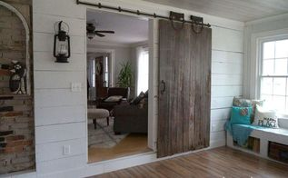 sliding barn door from a forsaken farm stead, dining room ideas, doors, home improvement, repurposing upcycling