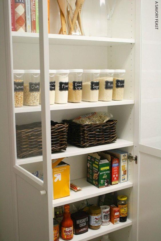Ikea Billy Bookcase Pantry Hack Closet Repurposing Upcycling
