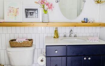 Modern Makeover Transforms Simple Bathroom